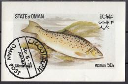 Oman 1972 Pesci Fish Gillaroo Trote - Oman
