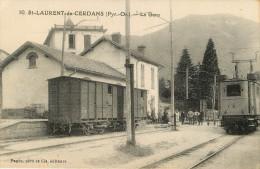 Saint Laurent De Cerdans : Gare Train Tramway - France