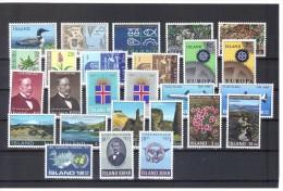 EBA422 Postfrisches  ISLAND  - LOT 26 WERTE   Siehe ABBILDUNG - Islande