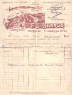 SUISSE , HAUT RHIN - BONCOURT , SAINTE CROIX AUX MINES - MANUFACTURE DE TABACS - F. J. BURRUS - 1905 - Suisse