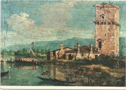 O2523 Seguace Del Canaletto (1750 Circa) - La Torre Di Marghera (Venezia) - Dipinto Paint Peinture - Pittura & Quadri