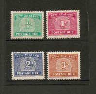 NEW ZEALAND 1939 POSTAGE DUE SET SG D41/D44 MOUNTED MINT Cat £45 - Portomarken