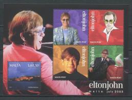MALTE 2004 Bloc N° 25 ** Neuf = MNH Superbe Cote 12 € Elton JOHN Musique Concert Bastion La Valette Music - Malta