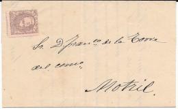 España. Carta De Barcelona A Motril Con Sello Sin  Matasellar. Edifil 102* - 1868-70 Gobierno Provisional