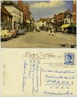 England - Ashford - High Street - Street Scene - Cars - Shops - Used 1964 - Stamp - England