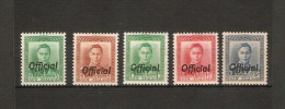 NEW ZEALAND 1938 - 1951 OFFICIALS TO 3d SG O134, O135, O137, O139, O140 LIGHTLY MOUNTED MINT/MOUNTED MINT/UM Cat £54+ - Officials