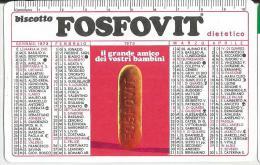 CALENDARIETTO PUBBLICITARIO PLASTIFICATO  BISCOTTO FOSFOVIT DIETETICO -ANNO 1973 - Calendari