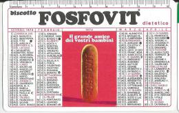 CALENDARIETTO PUBBLICITARIO PLASTIFICATO  BISCOTTO FOSFOVIT DIETETICO -ANNO 1973 - Calendarios