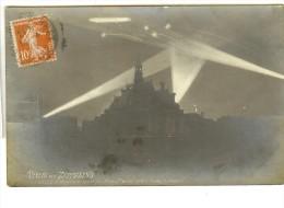 H.Guilleminot Photo Turlin - Visites Des Zeppelins  Levallois-Perret, Nuit Du 20 Au 21 Mars 1915 - Timbre Recto - Dirigeables