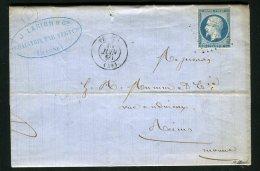 Lettre De Chantrix Par Vertus Pour Reims 1859 ( Archive Mumm's ) - 1849-1876: Periodo Classico