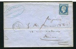 Lettre De Chantrix Par Vertus Pour Reims 1859 ( Archive Mumm´s ) - 1849-1876: Periodo Classico