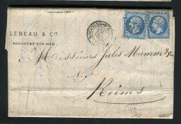 Lettre De Boulogne Sur Mer Pour Reims 1865 ( Archive Mumm´s ) - En-tête LEBEAU & Cie - 1849-1876: Periodo Classico