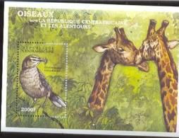 CENTRAFRICA   1326  MINT NEVER HINGED SOUVENIR SHEET OF BIRDS   #  0255-6 ( - Non Classés