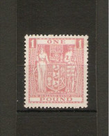 NEW ZEALAND 1940 - 1958 £1 SG F203 LIGHTLY MOUNTED MINT  Cat £32 - Postal Fiscal Stamps