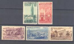 TABE01STV-LFT330.Marruecos.Maroc.Marocco VISTAS DE TANGER ESPAÑOL BENEFICENCIA 1937 (Ed 1/5**)sin Charnela LUJO - Marruecos Español