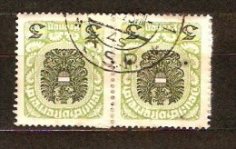CS Cancel On Austrian Stamp, Praha 1 ... P135 - Used Stamps