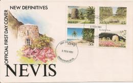 Nieves - Enveloppe Premier Jour - 1981 - Fort - Plage - Cocotier - Antilles