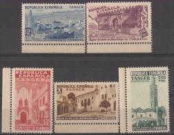 TABE1BH-L4227TAFRICMARR.Marruecos.Maroc.Marocco VISTAS DE TANGER ESPAÑOL BENEFICENCIA 1937 (Ed 1/5**)sin Charnela LUJO - Marokko (1956-...)