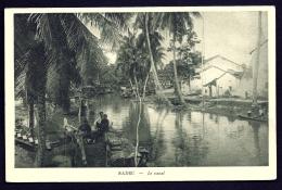 CPA ANCIENNE- ASIE- VIET-NAM- SADEC- LE CANAL AVEC BARQUES DE PECHE ANIMÉES - Vietnam