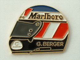 PIN´S CASQUE G.BERGER - MARLBORO - F1