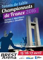 FRANCE 2016 - Chts De France à Brest (29) - Carte Postale - Tennis Table Tischtennis Tavolo - Tennis De Table