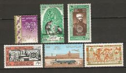 Ägypten 1967 - Lot 5  Mi 849-854  **    (alt: Mi 321-326) - Neufs