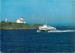 CPSM Norway-Norge-Haugesund-Hydrofoilen Vingtor Passerer Tonjer Fyr    L2063 - Norvège