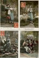 JEANNE D'ARC -  SA VIE ILLUSTREE - Le Lot De 10 Cartes - - Histoire