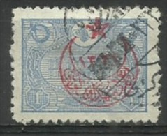 Turkey  - 1916 Overprint On 1913 Post Office 1pi Used   Mi 376   Sc B34 - 1858-1921 Ottoman Empire