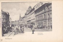 Budapest - Josefsring Jozsefkörut (top Animation, Tram, Tramway) - Hongrie