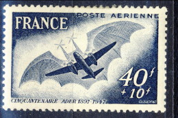 Francia PA 1947 N. 23 F. 40+10 MNH Gomma Originale Integra Catalogo € 2 - 1927-1959 Postfris