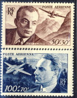 Francia PA 1947 Serie  N. 21-22 MNH Gomma Originale Integra Catalogo € 9 - 1927-1959 Postfris