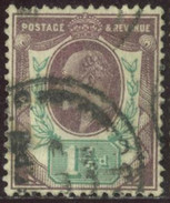 GB Yv. N°108 - 1p1/2 Violet-brun Et Vert Edouard VII - Oblitéré - 1902-1951 (Re)