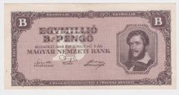 Billet Hongrie 1 000 000 B Pengö Type De 1946, Usagé En L'état. - Hongrie