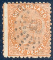 Queensland 1879. 1d Reddish Brown (no Wmk - Burelé Band). SG 132. - 1860-1909 Queensland