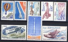 Francia PA 1971-82 Lotto Di 8 Francobolli MNH Con Gomma Orginale Integra Catalogo € 9,15 - 1960-.... Nuovi