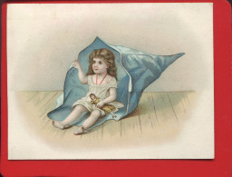 PARIS MAISON DE L OPERA RUE OPERA CHROMO ENFANT POUPEE CORNET PAPIER - Chromos