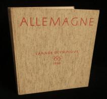 ALLEMAGNE L'ANNEE OLYMPIQUE 1936  BERLIN Volk Und Reich VERLAG Photographies Adolf HITLER ( Jeux Olympiques) - Sport