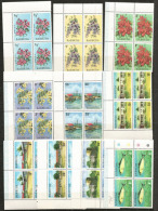 Lot De 40 Timbres Neufs ** De L´île Barbuda Antilles, (flore,faune,architecture De L´île)   1 ère Qualité.,en Blocs De 4 - Timbres