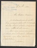 "Courrier 1920 Avec Tampon Cu ""CHATEAU LA TERRASSE"" Ile Du Nord à Gauriac Gironde (33) - Agriculture"