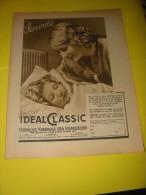 Publicité IDEAL CLASSIC Compagnie Nationale Des Radiateurs  1937 - Advertising