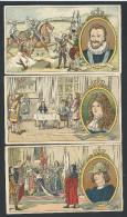 Lot 3 Chromos Publicitaires - Pastilles Salmon - Récompense élève - Louis XIV - Henri IX - Charles VII  // - Autres