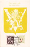 Carte Maximum BELGIQUE N°Yvert 670-674 (VICTOIRE - LIBERATION) Obl Sp 1945 - 1934-1951