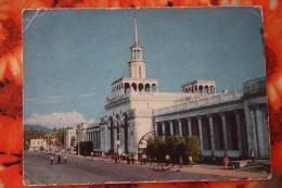 ABKHAZIA.  Old Postcard  SUKHUMI.  USSR - Old PC 1972 - RAILWAY STATION - LA GARE - BAHNHOF   Stationery - Gares - Sans Trains
