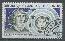 Congo (Brazaville), Copernicus, Polish Astronomer, 1973, VFU AIRMAIL - Congo - Brazzaville
