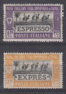 Italy Colonies Libya 1926 Espresso Sassone#E14-15 Mint Hinged - Libya