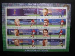 RUSSIA 2015 MNH (**)YVERTLEGENDS OF FOOTBALL. THE WORLD CUP 2018 .FIFA. SHEET