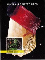 Guine-Bissau MNH 2004 Souvenir Sheet 4000fcfa Minerals And Meteorites - Minéraux