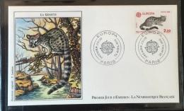 FRANCE - 1986 - FDC  N°1428 - N° Y&T 2416-2417 - Petite Enveloppe Oblitérée 26.04.86 à Paris (75) - 1980-1989
