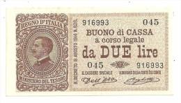 Italy 2 Lire 1914 SPL+ / XF+ - Italia – 2 Lire